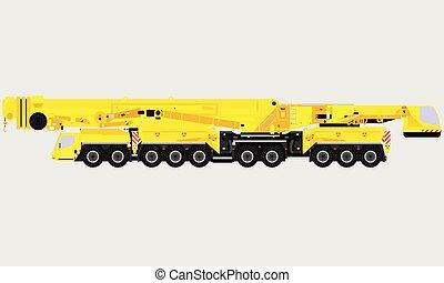 vervoer, van, de voertuigen van de bouw