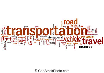 vervoer, woord, wolk