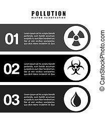 vervuiling, infographics, ontwerp