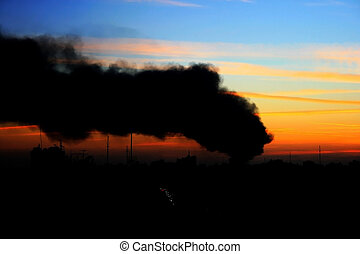 vervuiling, milieu