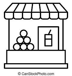 verwandt, ikone, saft, übersommern frucht, urlaub, stall, vektor