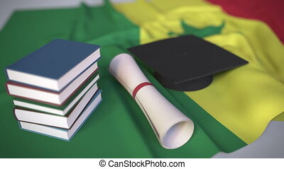 verwandt, senegalese, begrifflich, diplom, flag., bildung,...