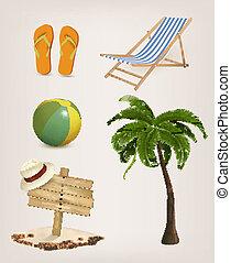 verwant, vakantie, set, icons., vector.