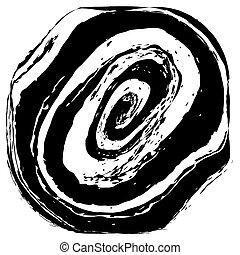 verward, postzegel, abstract