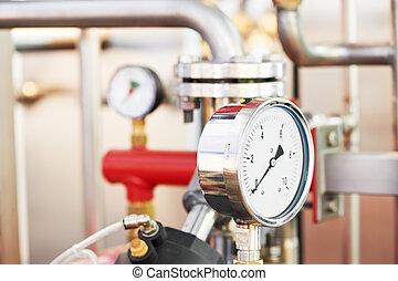 verwarming systeem, boiler kamer, equipments