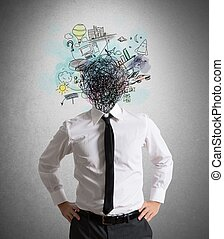 verwarring, van, ideeën