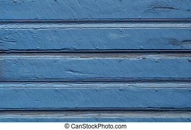 verweerd, houten, achtergrond, geverfde, blauwe
