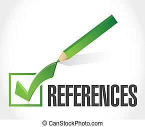verweisungen, prüfen markierung, zeichen, begriff