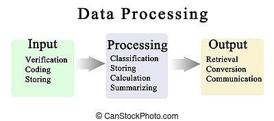 verwerking, data, cyclus