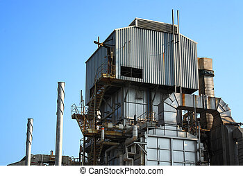 verwerking, gas, fabriek