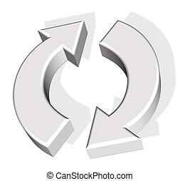 verwerten symbol wieder
