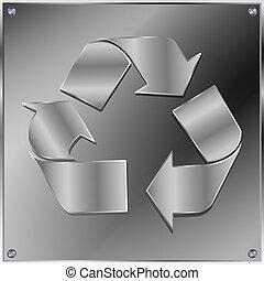 verwerten wieder, metall zeichen