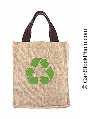 verwerten wieder, tasche, ökologie, shoppen