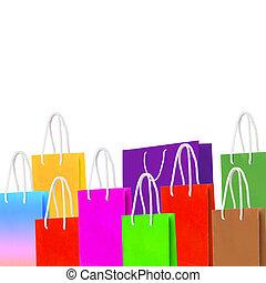 verwerten wieder, tasche, papier, shoppen
