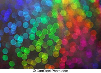 verwischen, vision, von, viele, blurry, punkte, mit, bokeh, effekt