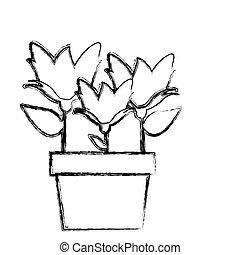 topf silhouette sonnenblume verwischt silhouette sonnenblume topf abbildung verwischt. Black Bedroom Furniture Sets. Home Design Ideas