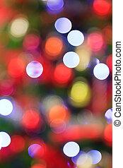 verwischt, weihnachtsbeleuchtung, hintergrund.