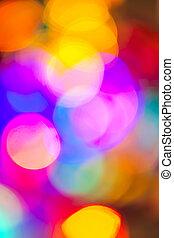 verwischt, weihnachtsbeleuchtung