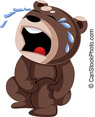 verwond, bruine , hurted, teddy beer, vector, illustratie, achtergrond, knie, witte