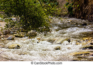 river in the mountain