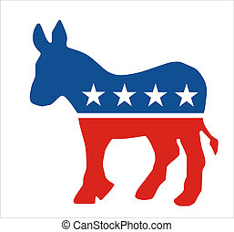 democratic - very big size democratic party donkey symbol