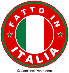 fatto in italia - very big size fatto in italia label made ...