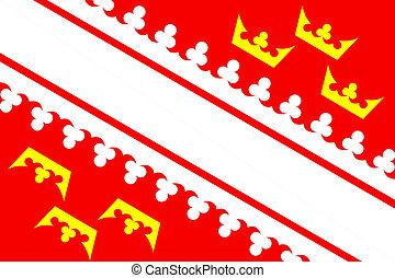 Alsace flag - very big size france region Alsace flag