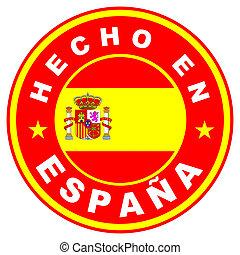 hecho en espana - very big size hecho en espana label made...