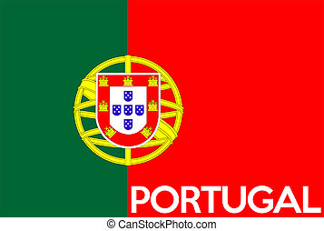 very big size illustration country flag of Portugal