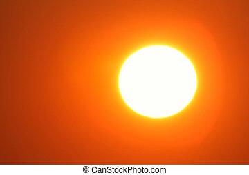 sun - very big yellow sun close up