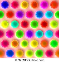 very bright spots pattern