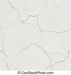 computer generated seamless tile image of cracked plaster in light beige or eggshell white. tiles seamlessly