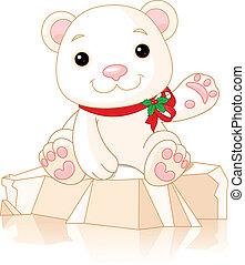 Polar Bear - Very cute Polar Bear cub waiving hello