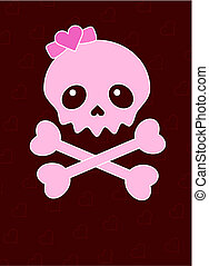 Skull - Very cute Skull and heart place card with place for...