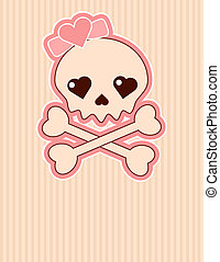 Skull - Very cute Skull place card with place for copy/text
