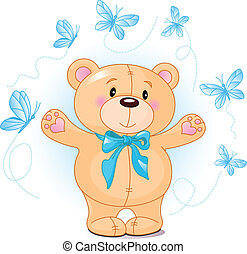 Teddy Bear waving hello - Very cute Teddy Bear waving hello...