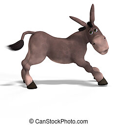 very cute toon donkey - sweet cartoon donkey with pretty...
