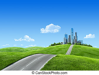 Very detailed 7000px city on horizon - Remarkable 3d...