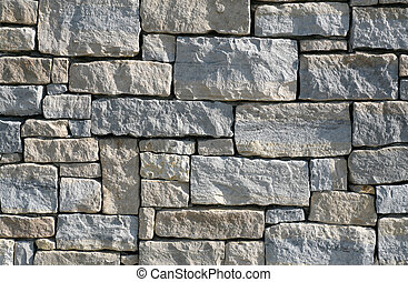 Limestone Stacked Stone Wall - Very Detailed inset of a ...