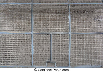 Very dirty, dirty air conditioner filter