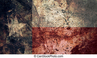 Very Grungy Texas Flag, Grunge Background Texture
