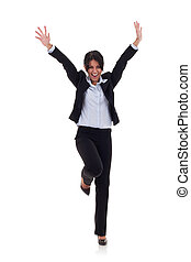 very happy business woman - picture of a very happy business...