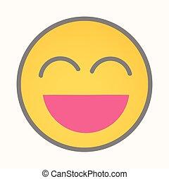 Very Happy - Cartoon Smiley Vector