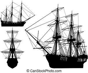 very hi detailed sailing boat (vect - very hi detailed...