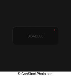Very high detailed black user interface button for websites and mobile apps, vector illustration