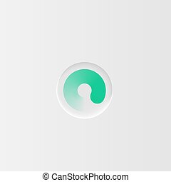Very high detailed white user interface round loading button for websites and mobile apps, vector illustration