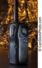 Very High Frequency walkie-talkie - Walkie talkie used on...