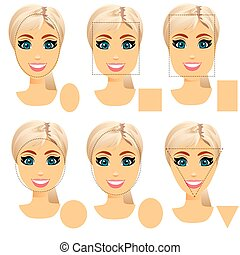 woman face shape types