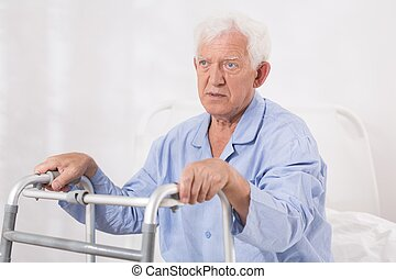 Very ill man - Old and very ill man is disabled