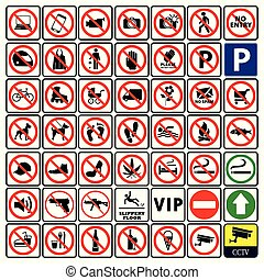 Very important and Most useful sign and symbol collection-Prohibition sign Collection